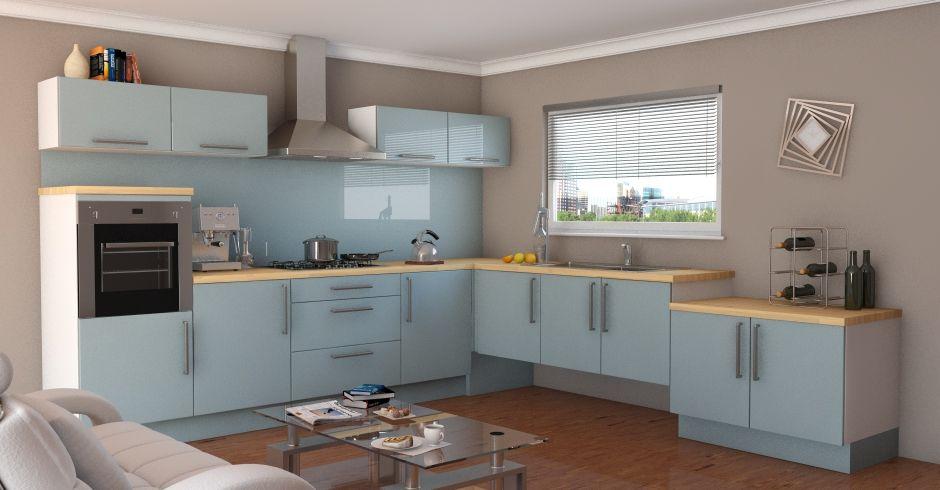 Pacrylic Blue Quartz   Gloss Kitchens   Interior Inspiration   Pinterest