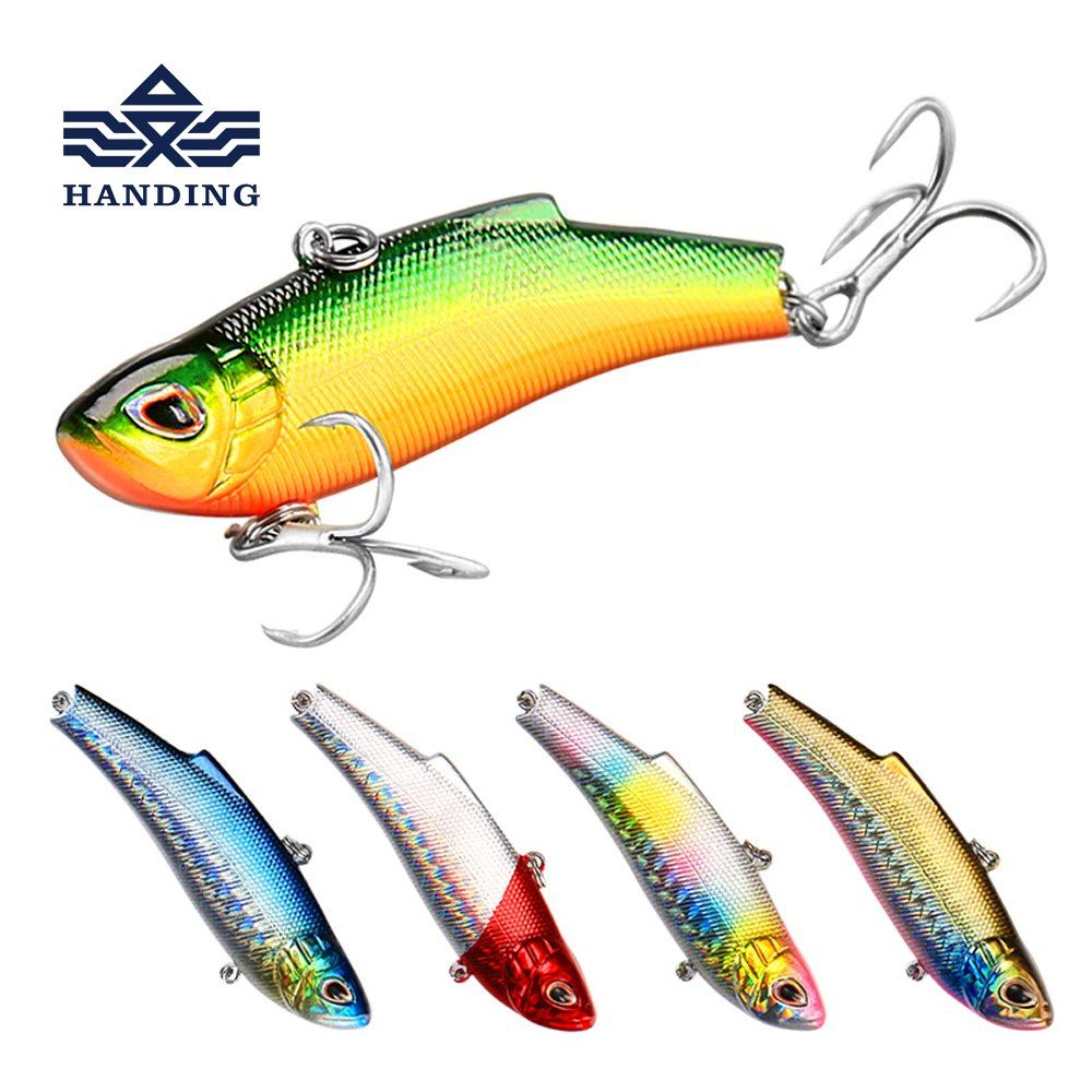 3Pcs Fishing Lure Crankbait Fishing Tackle 3D Eyes VIB Hard Baits Wobblers