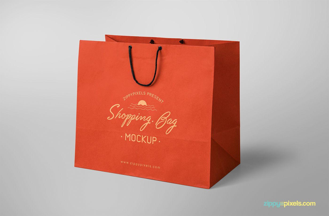 Download Free Shopping Bag Mockup On Behance Bag Mockup Shopping Bag Design Free Packaging Mockup