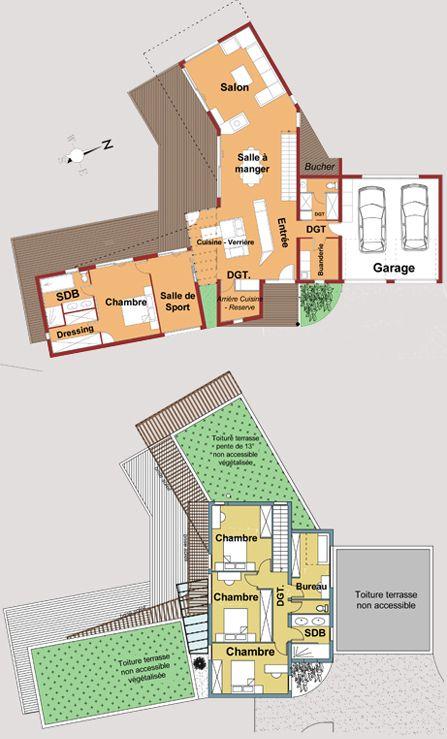 Maison Verrière Bois Aluminium - La Belle - Toit et Bois Plans