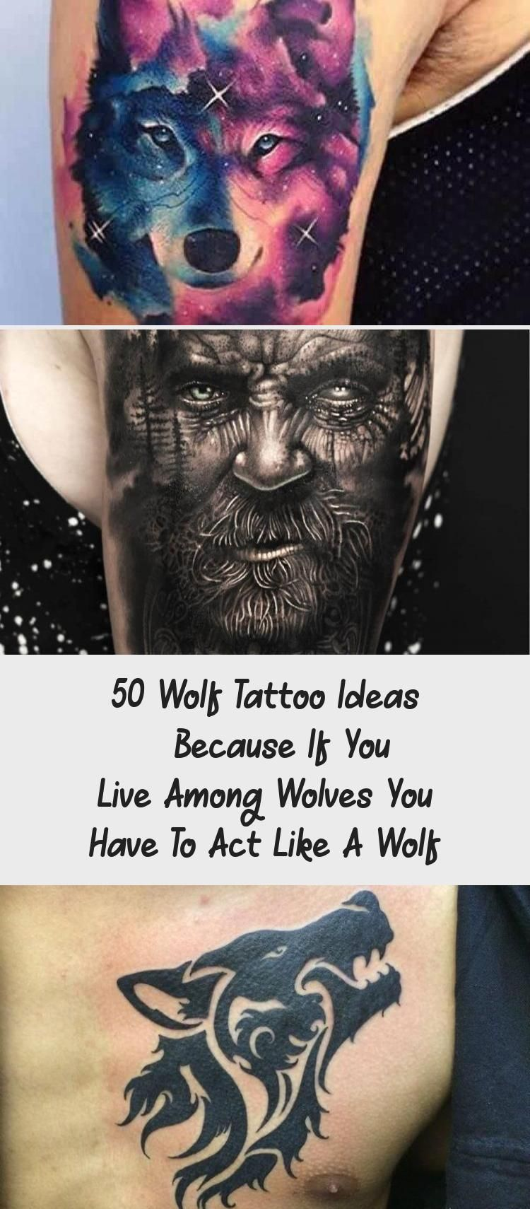 Photo of 50 Wolf Tattoo Ideas – Because If You Live Among Wolves You Have To Act Like A Wolf – Tattoos