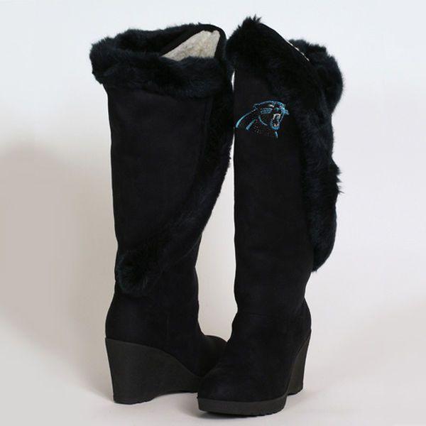 b0e34ba5 Cuce Shoes Carolina Panthers Women's Cheerleader Boots - Black ...