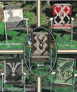 Game Pattern Macrame Chart Chair Lawn Garden Seat Swing