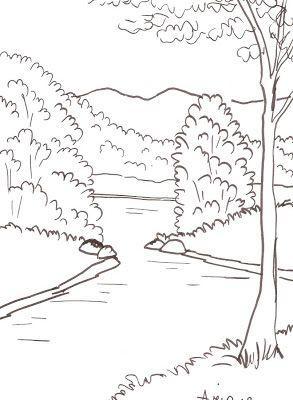 Riscos Do Dvd Paisagens 1 Com Imagens Tutorial De Desenho