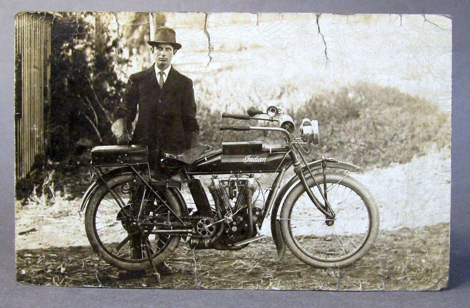 1910 Indian Motorcycle Indian Motorcycle Photo Postcards Real Photos
