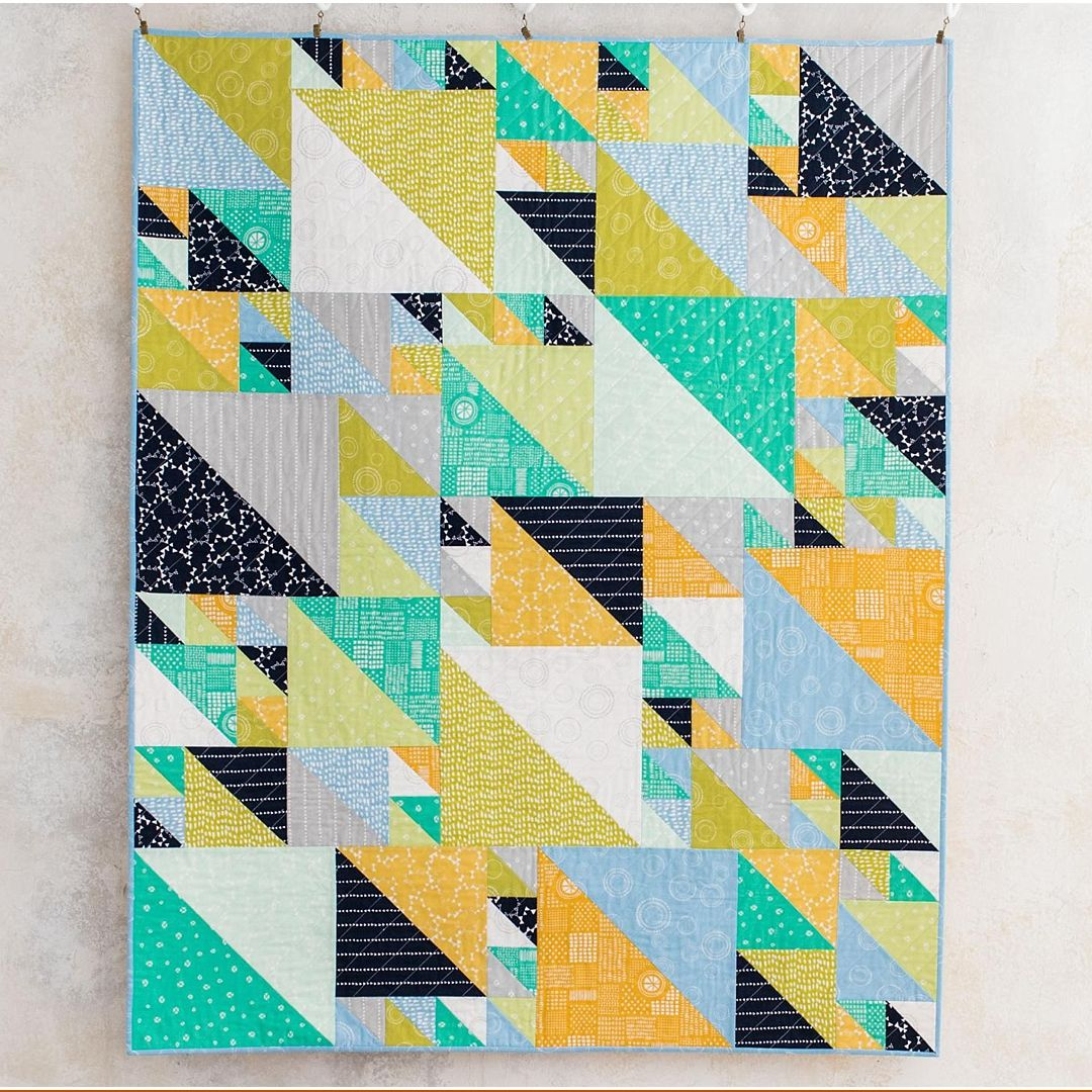 Landscape Quilt Patterns Kits : Triangles at Play Modern Hand Drawn Landscape Quilt Kitby Sarah Ruiz featuring Lily & Loom ...