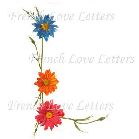 Letter L Daisy Design Alphabet Word Art 8 X10 Custom Name