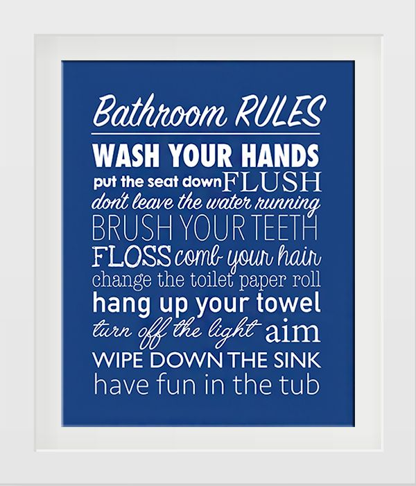 bathroom rules free printables