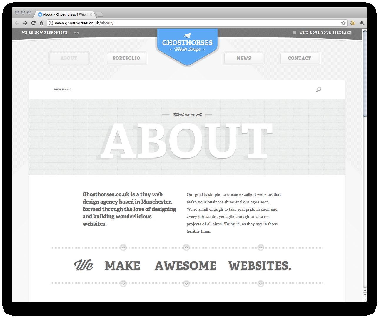 Responsive Design Http Www Ghosthorses Co Uk About Web Design Resources Website Design Inspiration Web Design