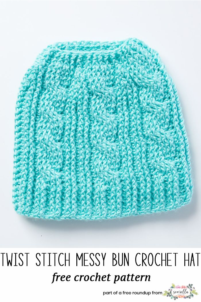 Crochet Hat Patterns That Look Knit Messy Buns Free Pattern And