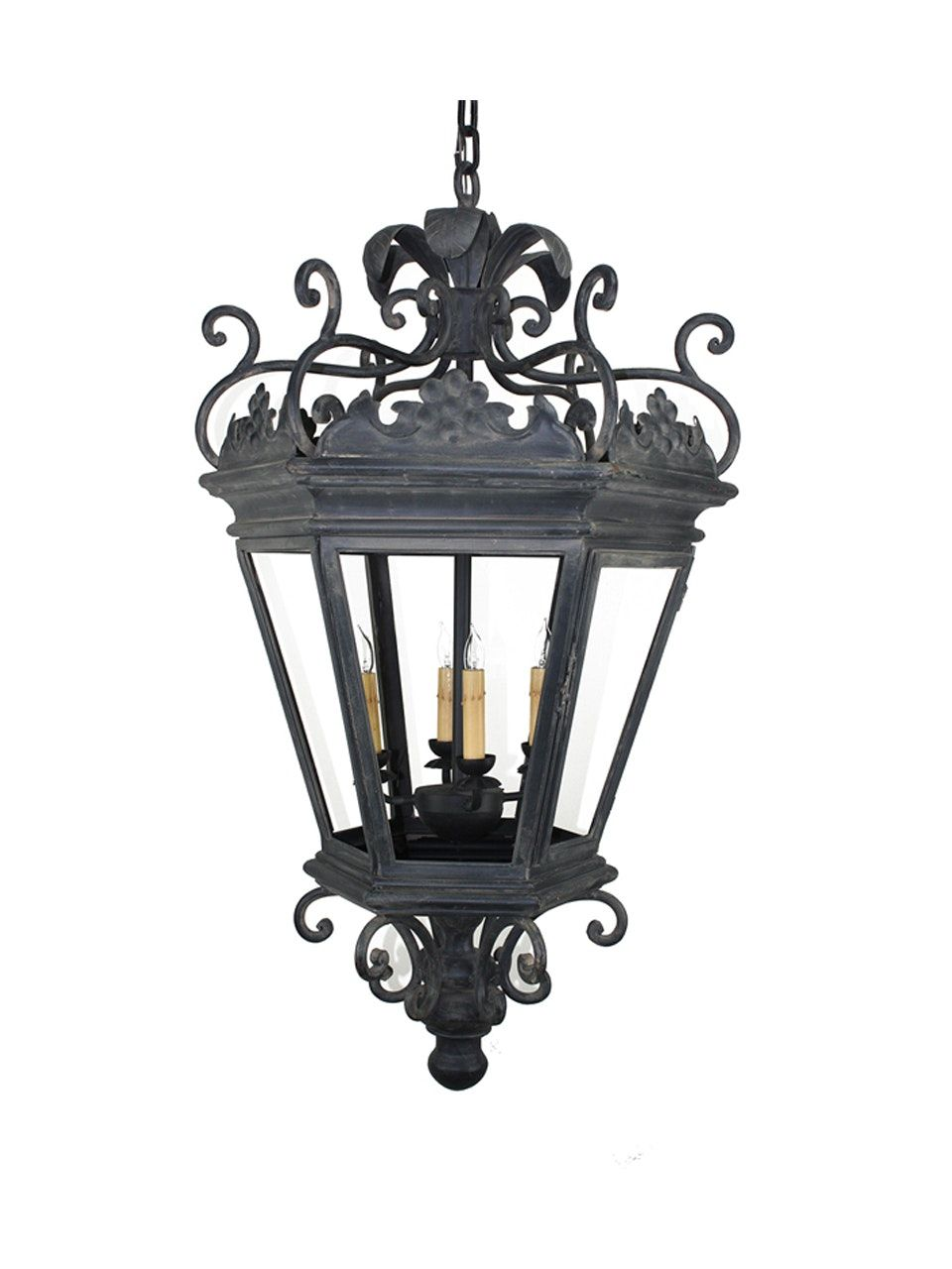 PN-051 Hand Forged Iron Four Light Pendant | Pendant ...