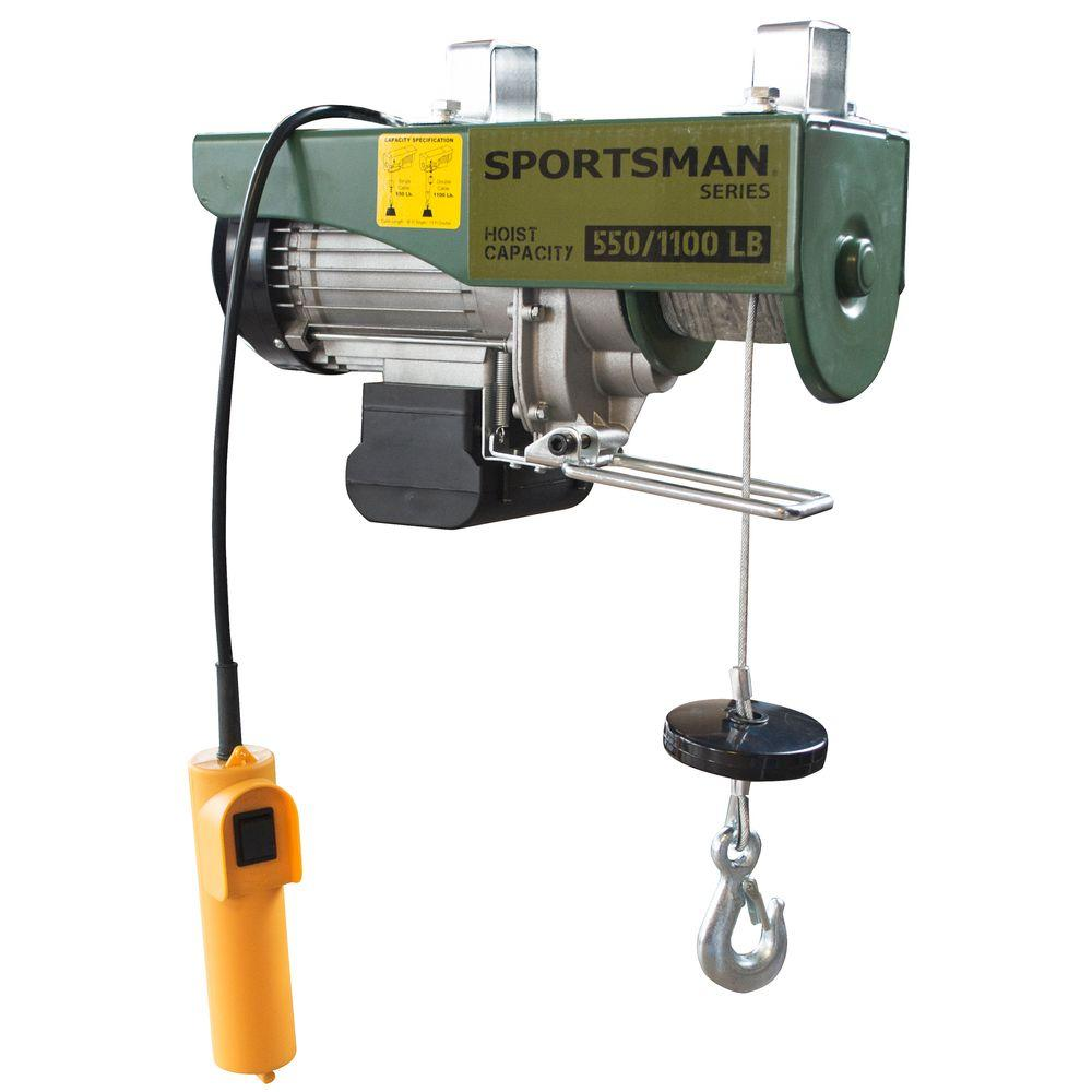 Sportsman 1 2 Ton Electric Game Hoist 801590 Hoist Small Winch Electricity