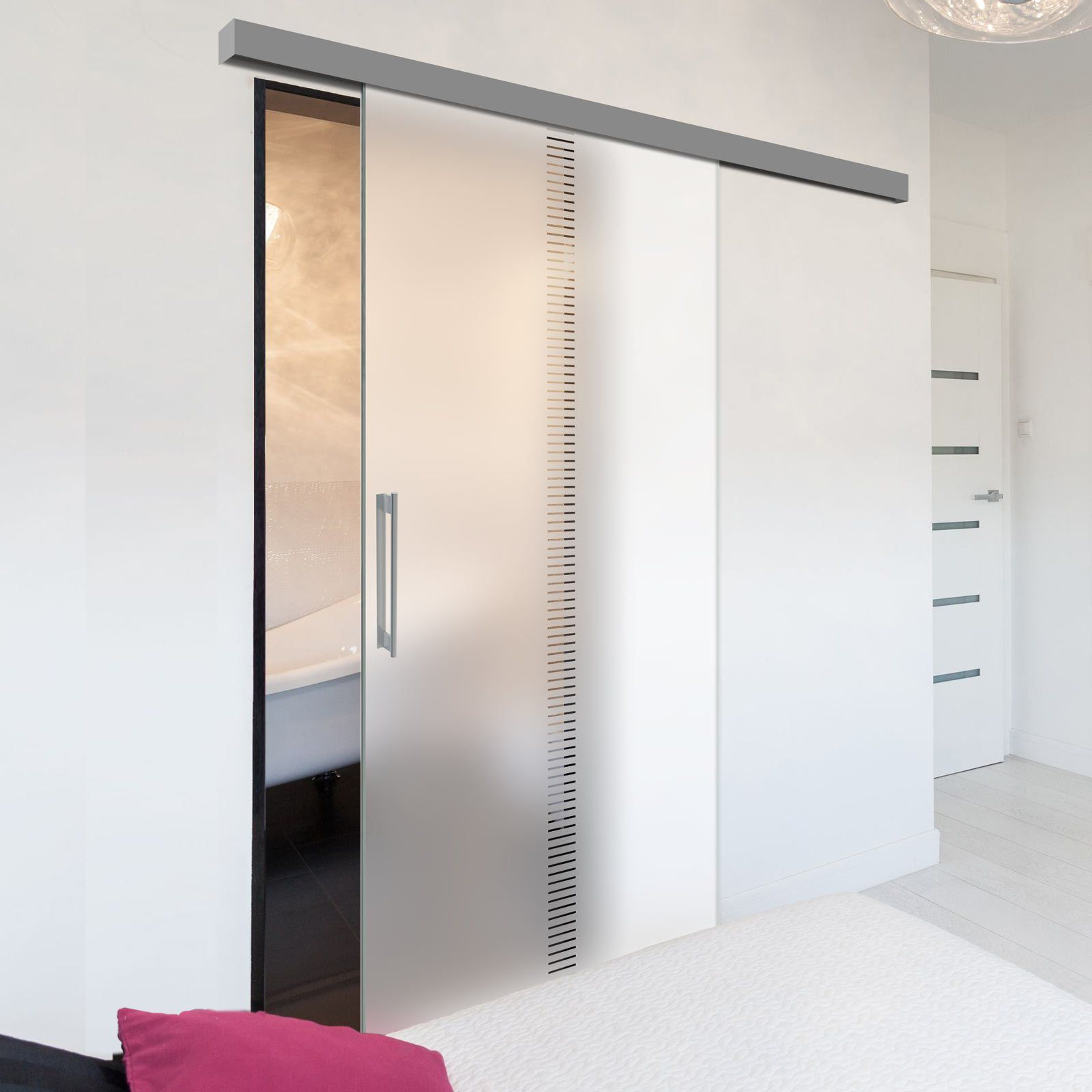 Single Glass Sliding Door Spott 8mm Obscure Glass Clear Printed Design Planeo 60 Pro Kit Sliding Glass Door Glass Door Internal Glass Sliding Doors