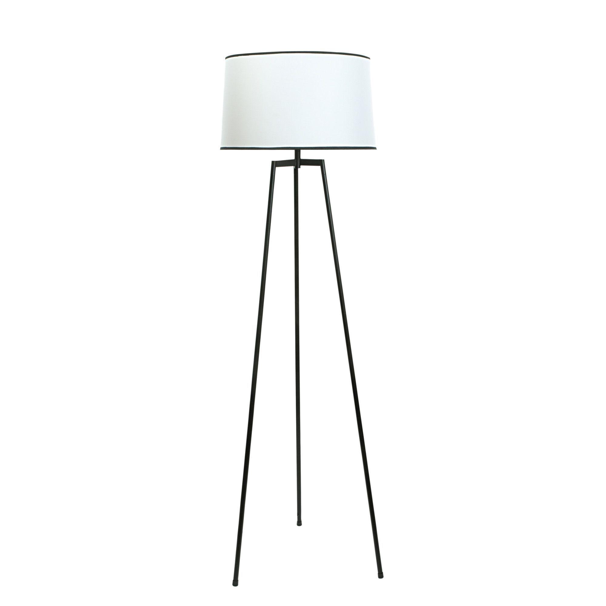 Harvey Black & Cream Floor Lamp | Floor lamp, Lamp ideas and Room lamp