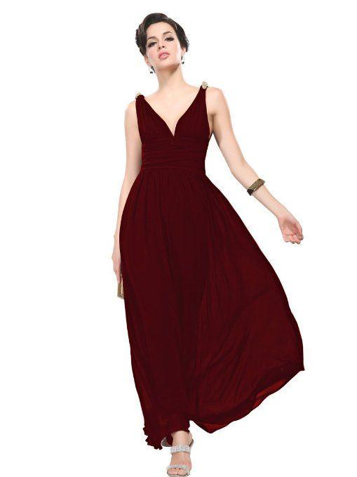 6c10f57141  40 Amazon.com  Ever Pretty Elegant V-neck Long Chiffon Crystal Maxi  Evening Dress 09016  Clothing