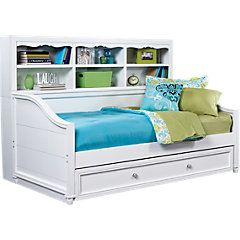 Trundle Bed With Shelves Bedroom Furniture Stores Rooms To Go