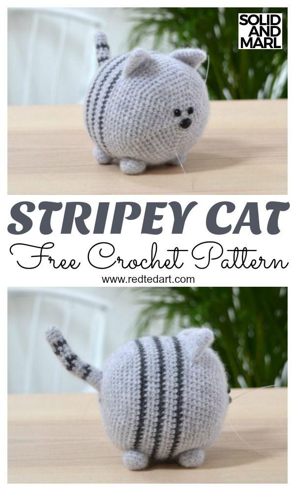 Patrón de ganchillo de gato gratis. Cómo hacer un gato de juguete ...