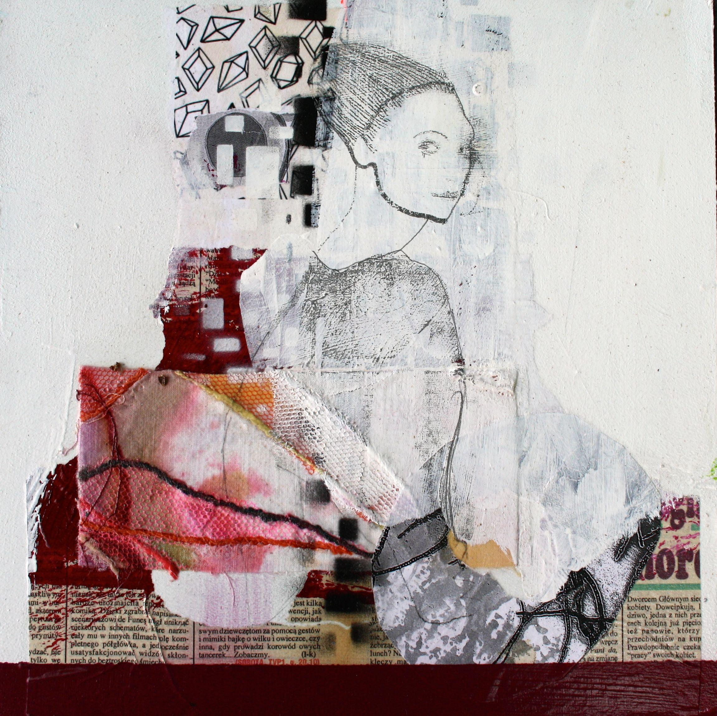 Mennesker Maleri Collage Abstrakt Art Udstillinger Kursus Akrylmaleri Rie Brodsgard Kolding Galleri Malerier Akrylmalerier Abstrakt