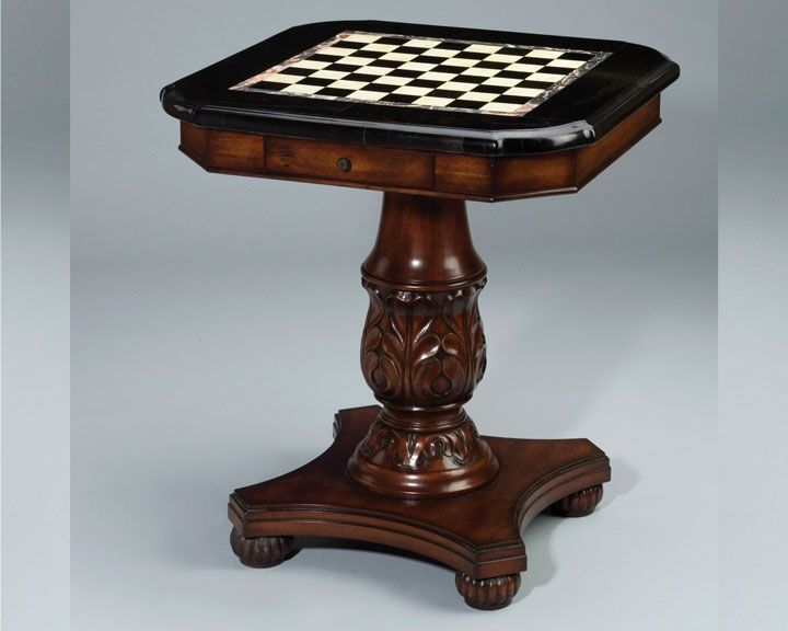 Card and chess table with marble top fabulous chess