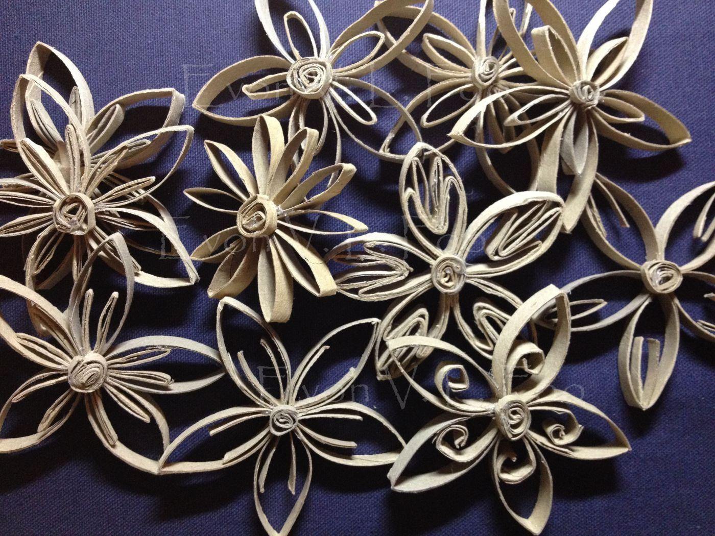 A Few Ways To Make Toilet Paper Roll Flowers Myne Alleen
