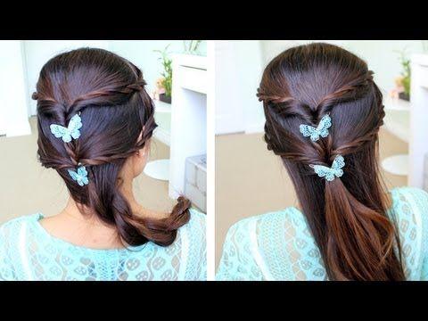 Fancy Rope Braid Half Updo Hairstyle Hair Tutorial For A Little Girl Medium Hair Styles Hair Styles Half Updo Hairstyles