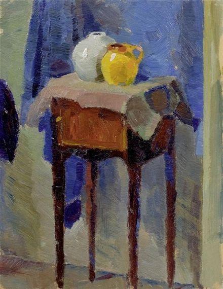 Lyonel Feininger (1871-1956) was een Amerikaanse kunstschilder en karikaturist. In het werk van Lyonel Feininger zijn sporen van kubisme, expressionisme. In 1924 begonnen Feininger, Paul Klee, Wassily Kandinsky en Alexej Javlenski de groep Blaue Vier. Toen de NSDAP in 1933 aan de macht kwam, werd de situatie ondraaglijk voor Feininger en zijn vrouw die gedeeltelijk Joods was.