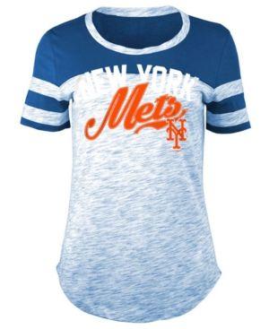 8612c543 5th & Ocean Women's New York Mets Space Dye Cb Yoke T-Shirt - Blue ...