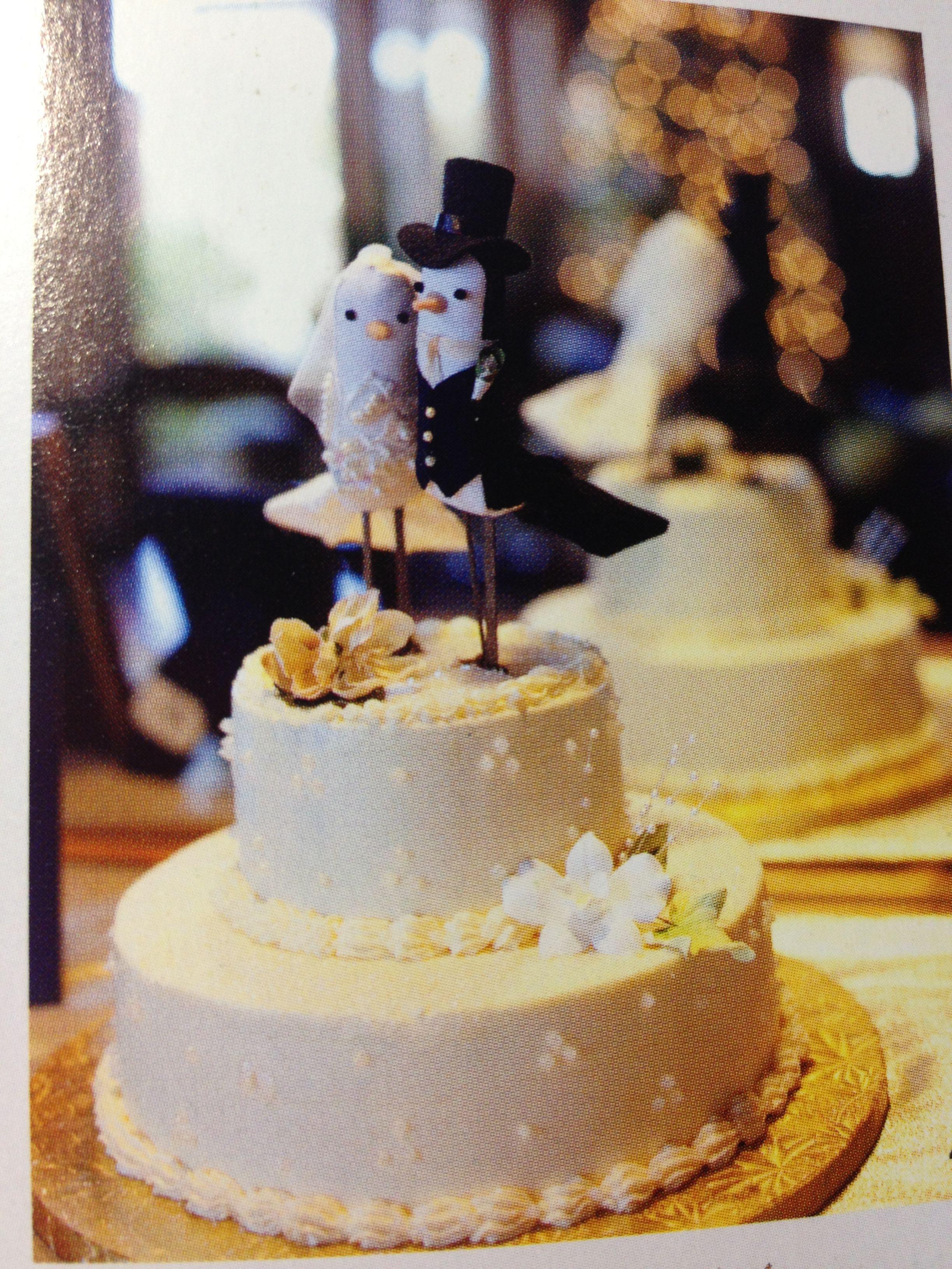 Cake topper love birds