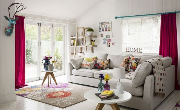 Go folky for a retro chic living room marks and spencer - Marks and spencer living room ideas ...