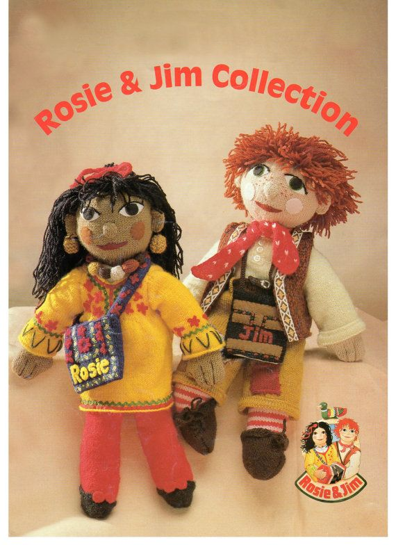 vintage Rosie and jim knitting pattern book DK | Knitting ...