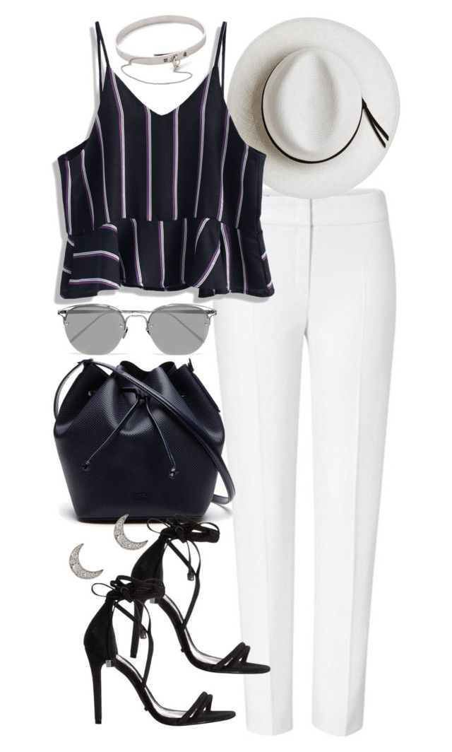 """Untitled #412"" by inspirene ❤ liked on Polyvore featuring ESCADA, Calypso Private Label, Chicwish, Lacoste, Schutz, Linda Farrow, Finn and Eddie Borgo"