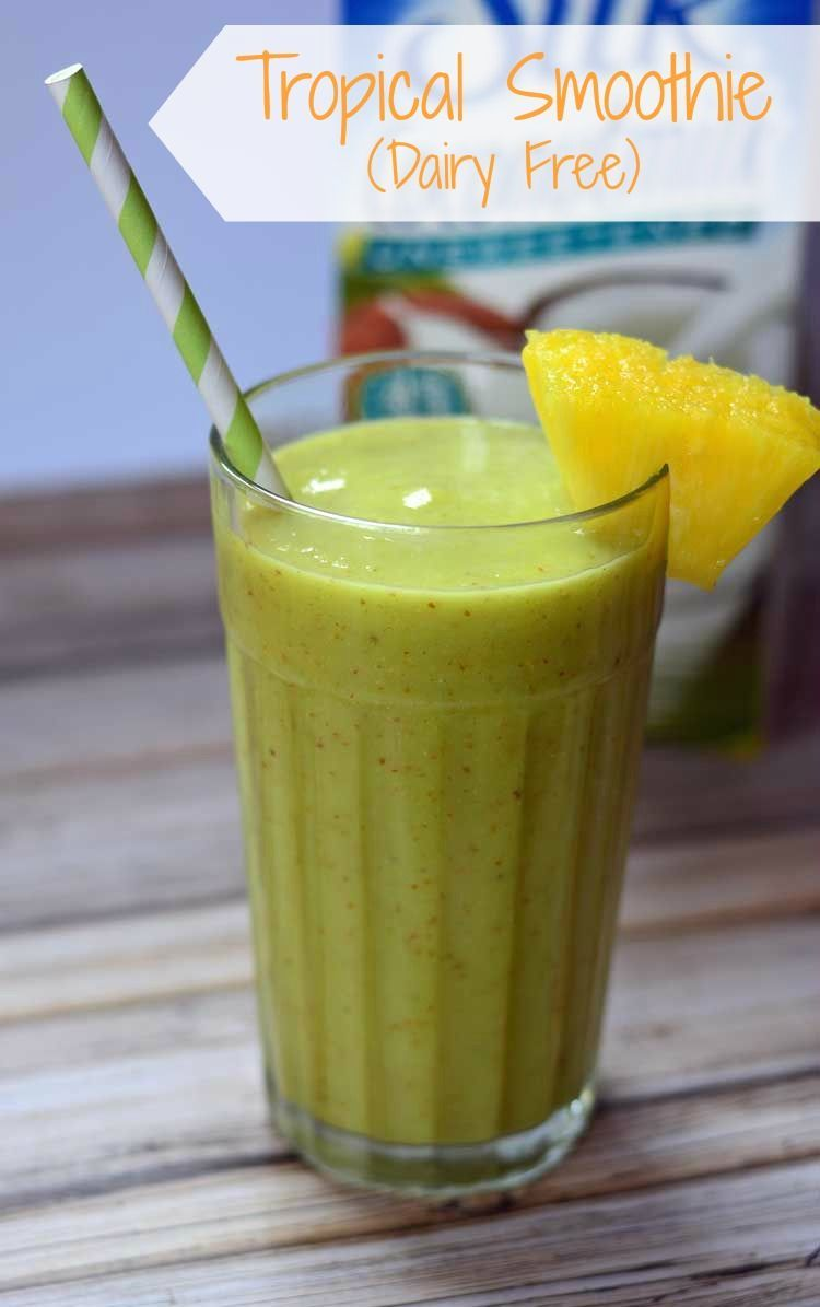Tropical Smoothie (Dairy Free) from Growing Up Gabel with