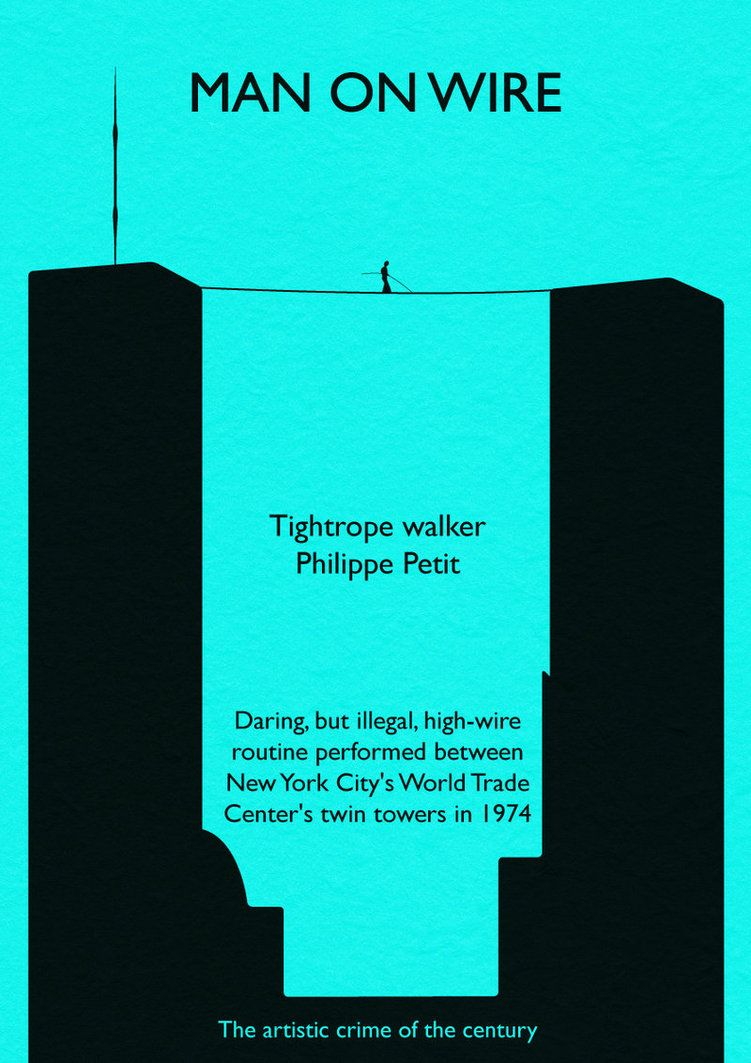 Man on wire, alternative poster | The tightrope walker | Pinterest