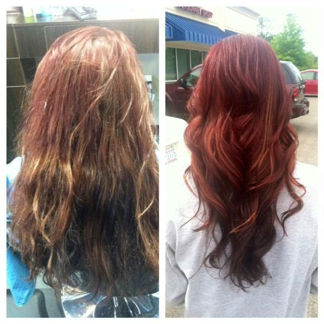 Professional Hair Color Vs Box Hair Color A Before And After