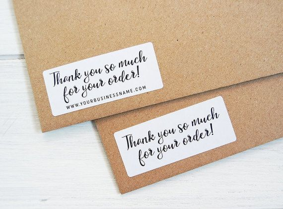 Thank you for your order stickers business shop seller packaging package labels custom personalized by azmari