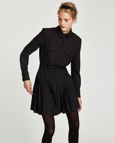 5007ffbdb340d8 SHIRT DRESS WITH PLEATED SKIRT-DRESSES-WOMAN | ZARA Spain | Fashion ...
