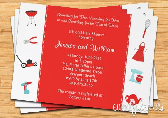 17 Best images about Honey Do Shower – His and Her Wedding Shower Invitations