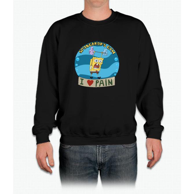 Spongebob's Gym Crewneck Sweatshirt