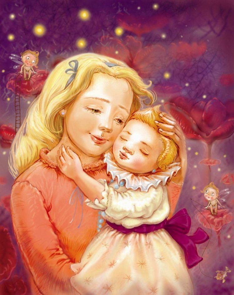 Мать с ребенком детские картинки
