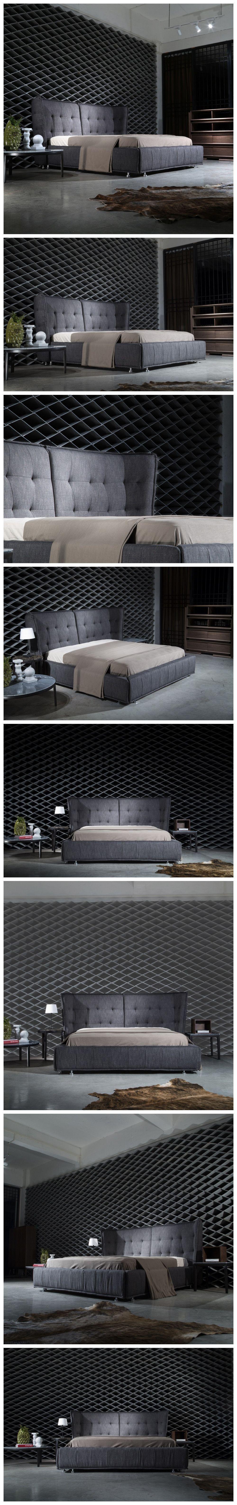 Comfortable modern bedroom furniture wooden bed furniture queen size