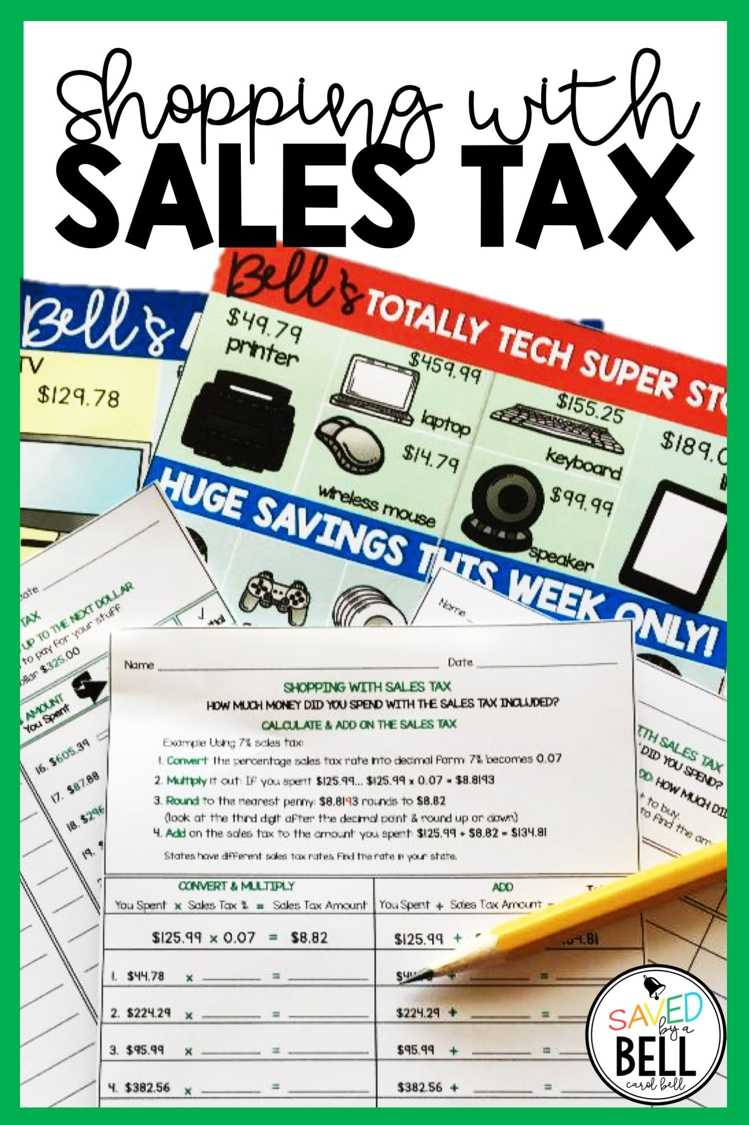 Sales Tax Worksheets Edition 2