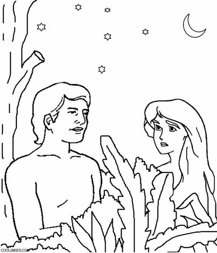 Adam And Eve Coloring Pages Printable Sunday School Coloring