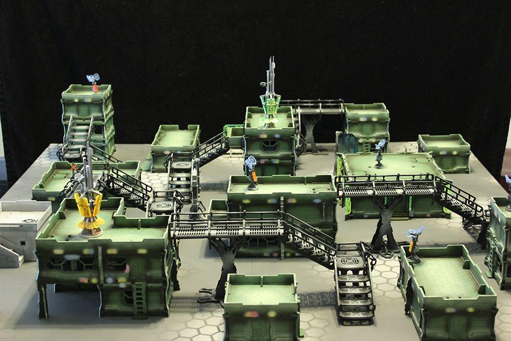 Generator+boxes scenery terrain warhammer 40 wargame Infinity wargaming building