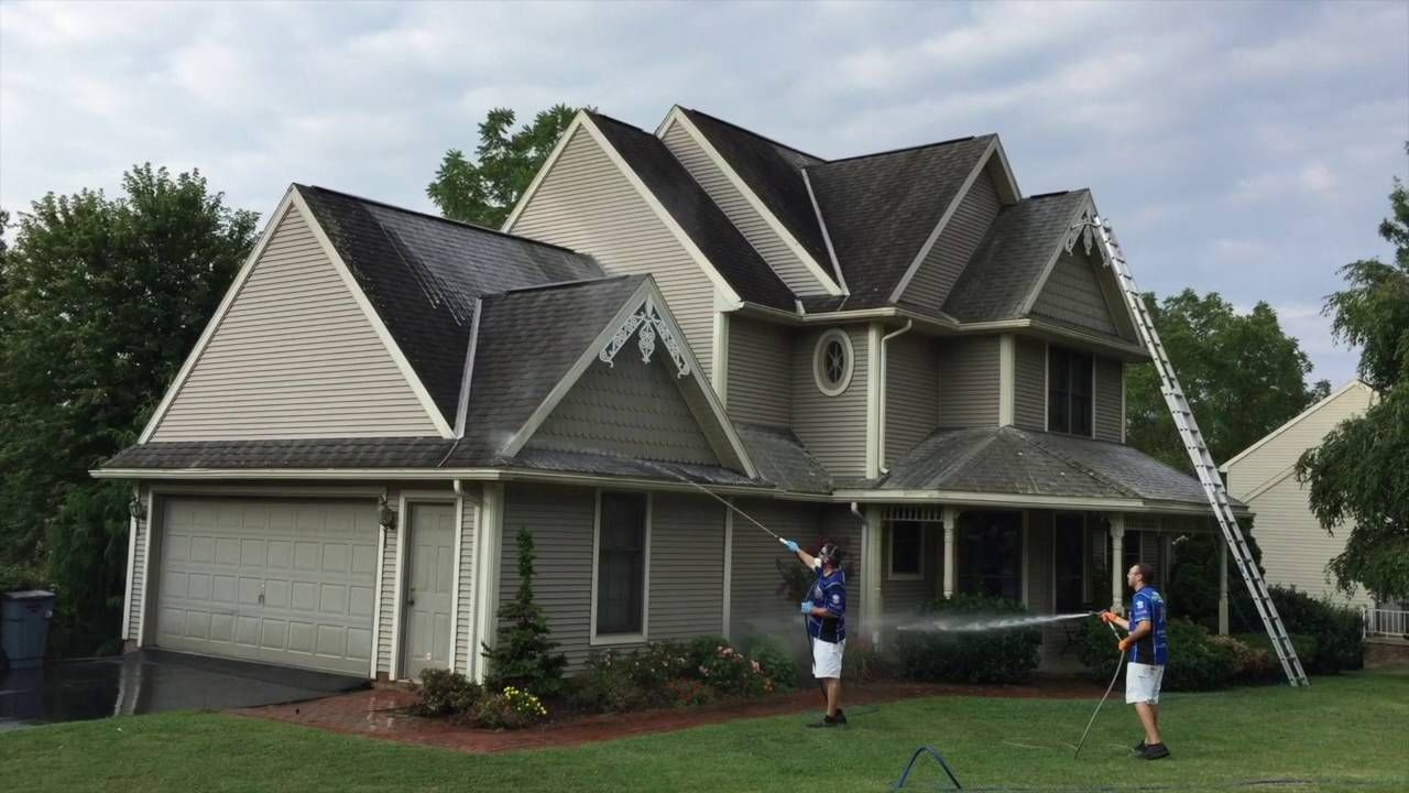 Soft Wash Roof Cleaning in York PA September 2016 Roof