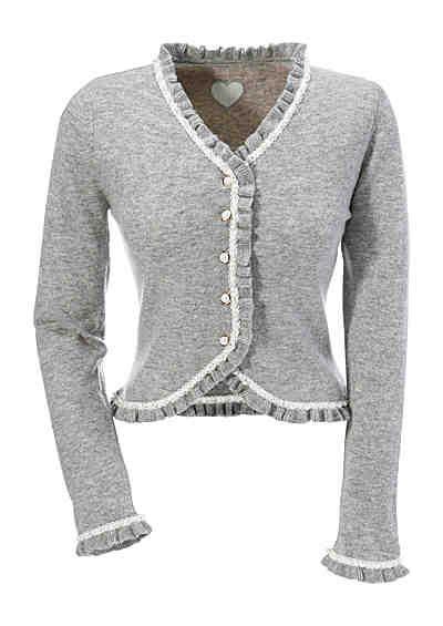 9a0c200c4cab03 Strickjacke mit Perlenverzierung, Krüger Madl Strickjacke Mit Kapuze,  Trachten Strickjacke, Kleidung, Trachtenweste
