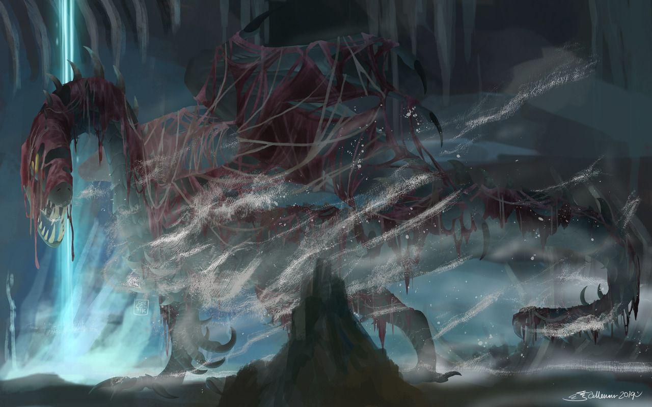 Elder Dragon Of The Vale Vaal Hazak Is My Favourite Mhw Elder Dragon Woo Monster Hunter Art Tiny Dragon Monster Hunter