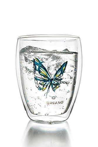 Creano Thermoglas Colourfly (im Schmetterling Design, bla... http://amzn.to/28Tpg8y