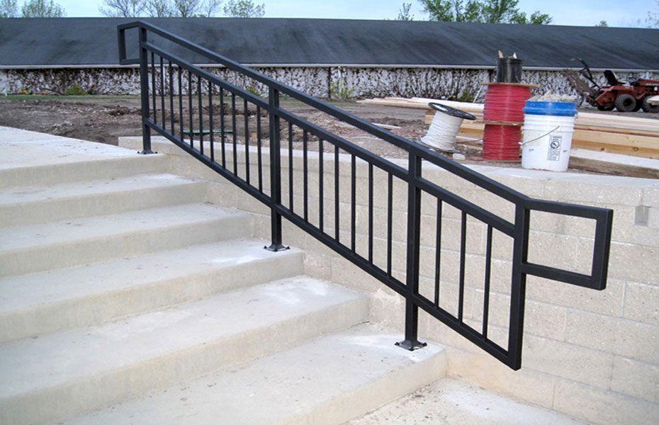 Custom Commercial Grade Metal Railing Railing Design Metal   Commercial Handrails And Railings   Metal   Wood   Guardrail   Pipe Railing   Stainless Steel Railing