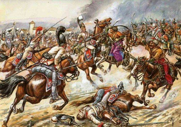 Charge Of The Mamelukes At Austerlitz By Jack Girbal War Art Painting Military Art