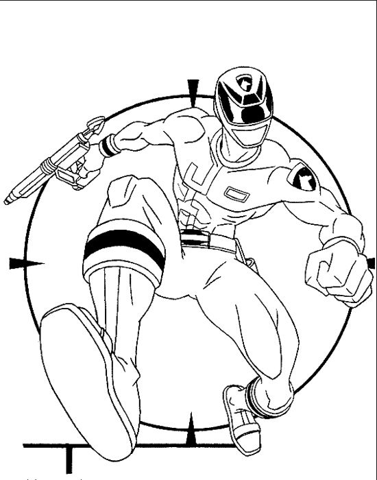 Blue SPD Ranger Coloring Pages
